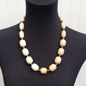 """Vintage Napier Two Toned beige necklace 22.5"""""""